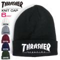 THRASHER ニット帽 スラッシャー ニット帽 ロゴ刺繍 ニットキャップ ロゴ THRASHER-1006