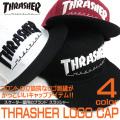 THRASHER キャップ スラッシャ― 刺繍入りキャップ ロゴ刺繍 メンズアイテム 刺繍 帽子 THRASHER-1011