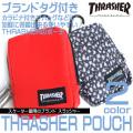 THRASHER ポーチ スラッシャー カラビナ付きポーチ ブランドタグ付き メンズ 小物アイテム THRASHER-1018