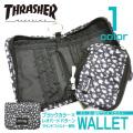 THRASHER 財布 スラッシャー ラウンドファスナー 折り財布 コインケース付き THRASHER-1019