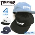 THRASHER キャップ ロゴ刺繍 スナップバック スラッシャー 帽子 ストラップバック 立体刺繍 THRASHER-1022