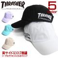 THRASHER キャップ ロゴ刺繍 ローキャップ スラッシャー 帽子 スケーター 小物 メンズ THRASHER-1023