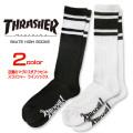 THRASHER 靴下 スラッシャー マグロゴ ハイソックス ライン ロングソックス THRASHER-1033