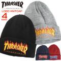 THRASHER ニット帽 ロゴ刺繍 ニットキャップ スラッシャー ビーニー フレームロゴ  THRASHER-1037