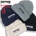 THRASHER ニット帽 スラッシャー 帽子 メンズ ニットキャップ レディース 秋冬ニット帽 THRASHER-1039