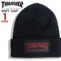 THRASHER ニット帽 ワッペン ニットキャップ スラッシャー ビーニー キャップ ロゴ 帽子 THRASHER-1045