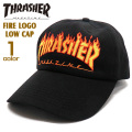 THRASHER キャップ スラッシャー 帽子 メンズ ローキャップ レディース帽子 ファイヤーロゴ THRASHER-1048