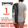 THRASHER スケートボードケース スラッシャー スケボーバッグ ロゴプリント ポーチ付 THRASHER-THRBC001