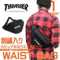 THRASHER バッグ スラッシャー ウエストバッグ ロゴ刺繍 ショルダーバッグ THRASHER-THRCD200