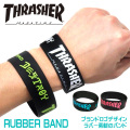THRASHER ラバーバンド スラッシャー リストバンド ブランドロゴ ブレスレット THRASHER-THRRW100