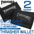 THRASHER MAGAZINE 財布 スラッシャー サイフ 三つ折り財布 ブランドロゴプリント THRASHER-THRSG111