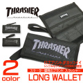 THRASHER 財布 スラッシャー 長財布 ブランドロゴのプリントがかっこいい 小銭入れ THRASHER-THRSG112