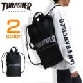 THRASHER ナップサック スラッシャー ナップサック ロゴプリント メッシュポケット THRASHER-THRSG120
