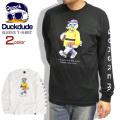 DUCK DUDE Tシャツ アヒルプリント 長袖Tシャツ メンズ ダックデュード 袖プリント ビーワンソウル TSL-100