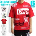 b-one-soul Tシャツ 総柄プリント 半袖Tシャツ B ONE SOUL トップス メンズ ストリート系 TSS-328
