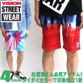VISION ハーフパンツ メンズ タイダイ柄 ショーツ VISION STREET WEAR パンツ VISION-003