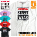 VISION Tシャツ ブランドロゴ プリント VISION STREET WEAR 半袖Tシャツ メンズ VISION-007