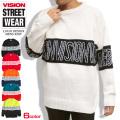 VISION セーター 切り替え ニットセーター メンズ クルーネック ニット ビジョンストリートウェア VISION-068