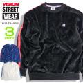 VISION STREET WEAR スウェットパンツ メンズ スウェットショーツ ロゴ総柄 ハーフパンツ VISION-075