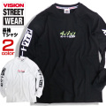 VISION Tシャツ 袖ロゴ 長袖Tシャツ メンズ ロンT ヴィジョンストリートウェア ロゴ トップス VISION-128