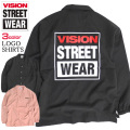 VISION 長袖シャツ ヴィジョンストリートウェア オープンカラーシャツ メンズ 開襟シャツ VISION-140