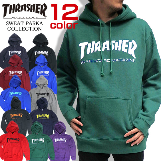 THRASHER MAGAZINE  スウェット パーカー スラッシャー プルオーバーパーカー メンズ THRASHER-001