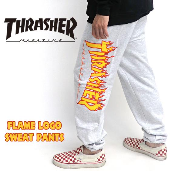 THRASHER スウェットパンツ メンズ パンツ スラッシャー ファイヤーロゴ プリント THRASHER-033