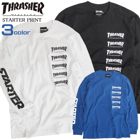 THRASHER Tシャツ スラッシャー 長袖Tシャツ STARTER BLACK LABEL THRASHER-057