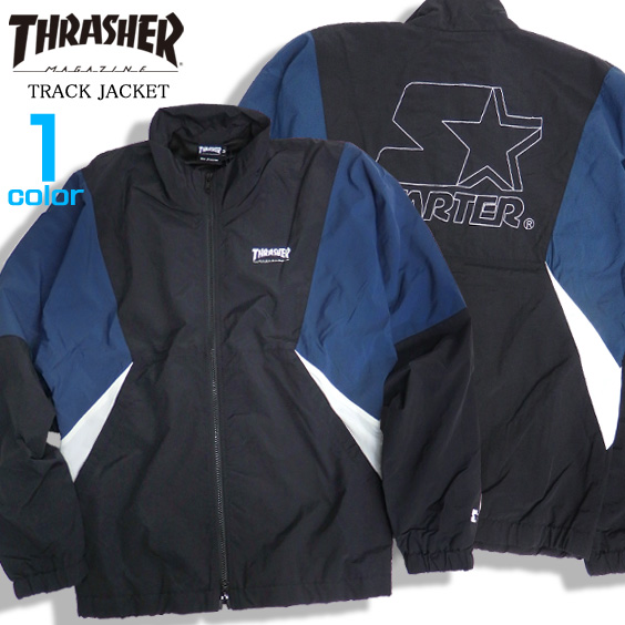 THRASHER ジャケット ロゴ刺繍 トラックジャケット メンズ ナイロンジャケット スラッシャー THRASHER-070