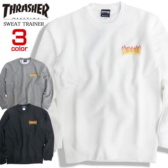 THRASHER トレーナー ファイアーロゴ スウェット メンズ スラッシャー スエット 裏起毛 THRASHER-078