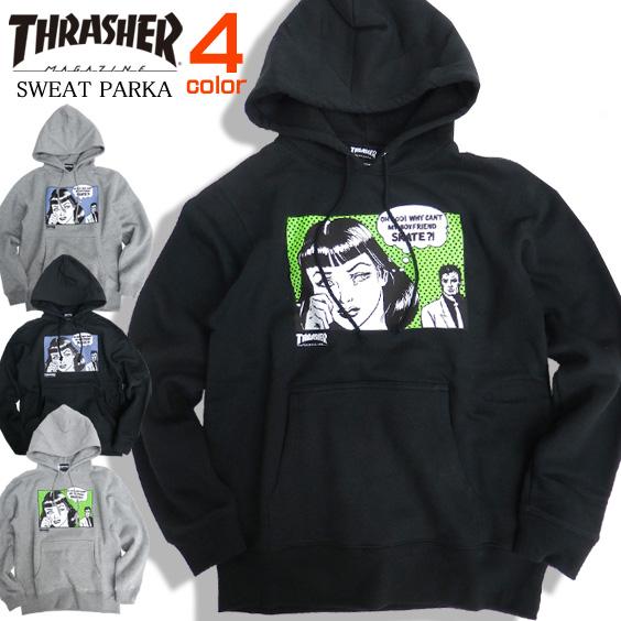 THRASHER パーカー スラッシャー プルオーバーパーカー スラッシャーマガジン ボーイフレンド THRASHER-079