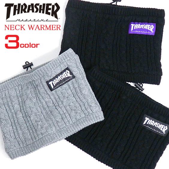 THRASHER ネックウォーマー スラッシャー ブランドタグ付きネックウォーマー メンズ THRASHER-1012