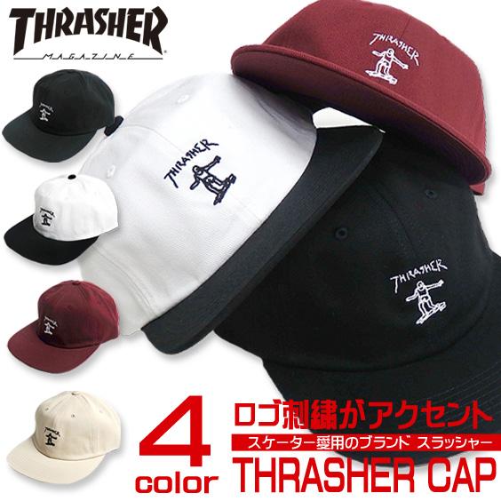 THRASHER キャップ スラッシャー 帽子 ロゴ刺繍 スラッシャーマガジン キャップ ロゴ 刺繍 THRASHER-1021