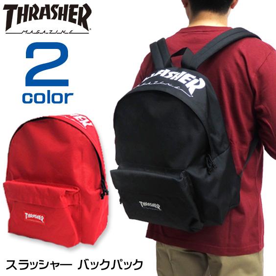 THRASHER リュック ロゴプリント バックパック リュックサック デイパック THRASHER-THRML5900