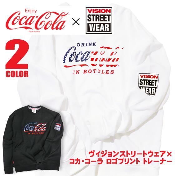 コカ・コーラ VISION コラボ スウェット メンズ Coca-Cola ヴィジョンストリートウェア VISION-120