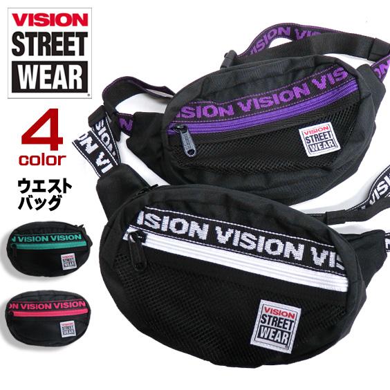VISION ウエストバッグ ロゴテープ ショルダーバッグ ヴィジョン カバン ボディバッグ VISION-VSJQ200