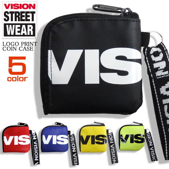 VISION コインケース ロゴプリント 小銭入れ 財布 ヴィジョン サイフ 小物 雑貨 VISION-VSTP103