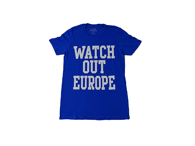 LCFCプリントTシャツ(Watch Out Europe)【新品】