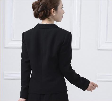 婦人フォーマル 3点セットスーツ 背中 CQ0018