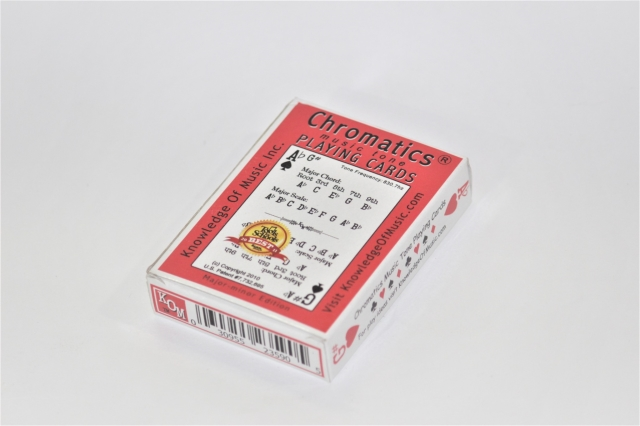 【Chromatics PLAYING CARDS】 音階が並ぶトランプ!?