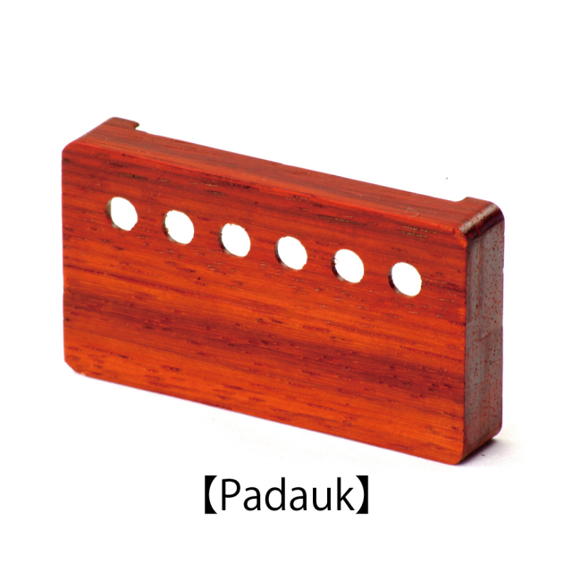 Lx pickups(エルエックス) ウッドピックアップカバー/パドゥク/53mmピッチ Wood Pickup Cover木製