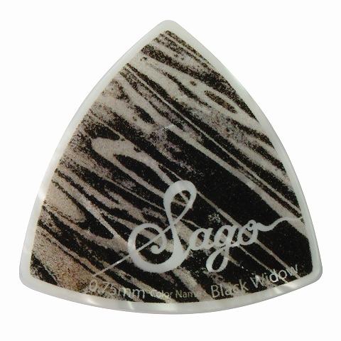 Sago(サゴ) ギターピック Wrapick Triangle Black widow0.75mm
