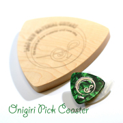 Reodell(リオデル)Onigiri Pick Coaster / ギターピック型木製コースター