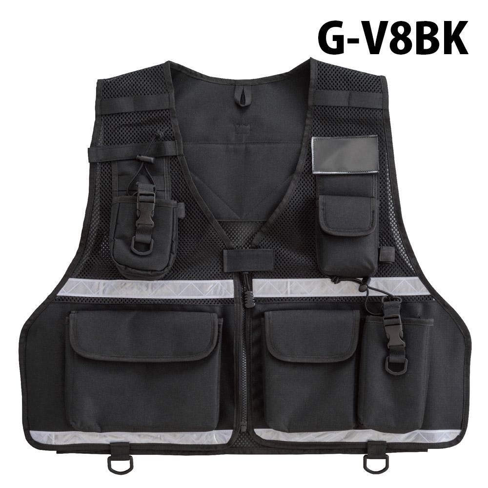 トンボレックス TONBOREX 救助隊員用ベスト 大型無線機ポケット付 G-V8BK (クーポン対象外)