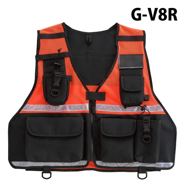 トンボレックス TONBOREX 救助隊員用ベスト 大型無線機ポケット付 G-V8R (クーポン対象外)