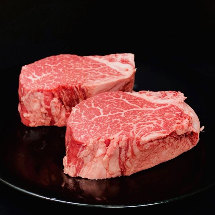 越中万葉牛のヒレステーキ【200g2枚】