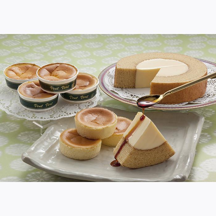 ぷりんバーム&半熟チーズケーキセット