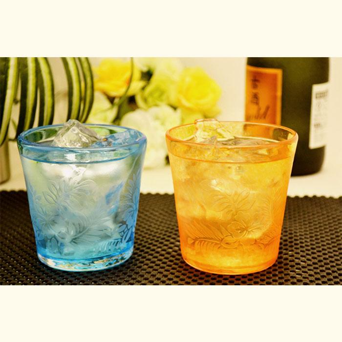 琉球ガラスを日常に ハイビグラス2個セット(ノーマル)