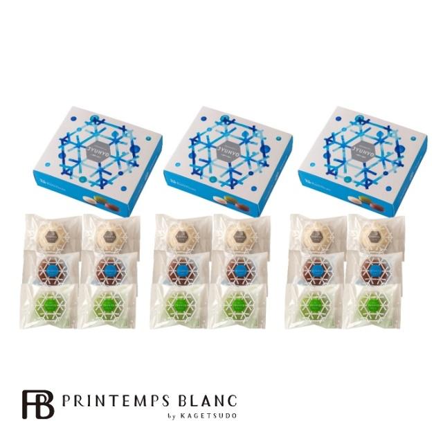 プランタンブラン 八幡平の樹氷6個入(白2、黒2、抹茶2)×3箱セット