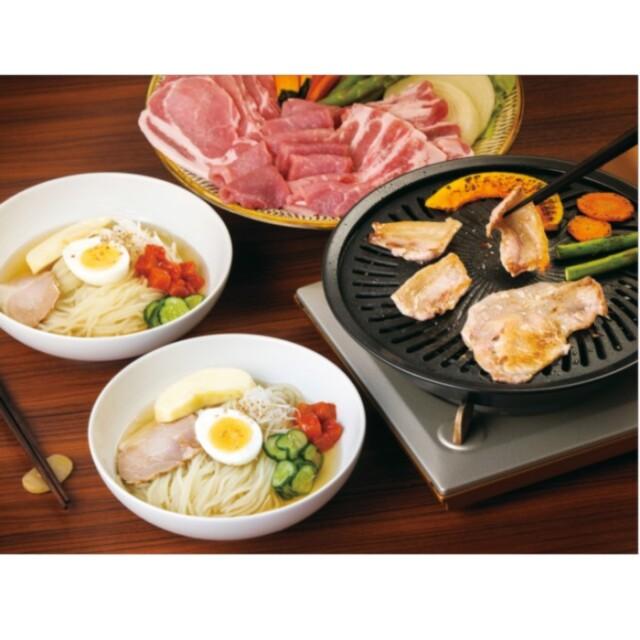 佐助豚焼肉・冷麺セット